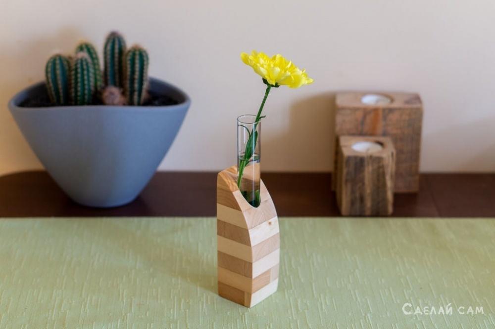 Деревянная ваза своими руками