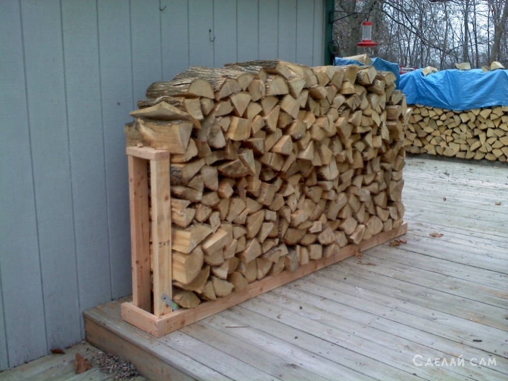 Простая подставка для дров своими руками