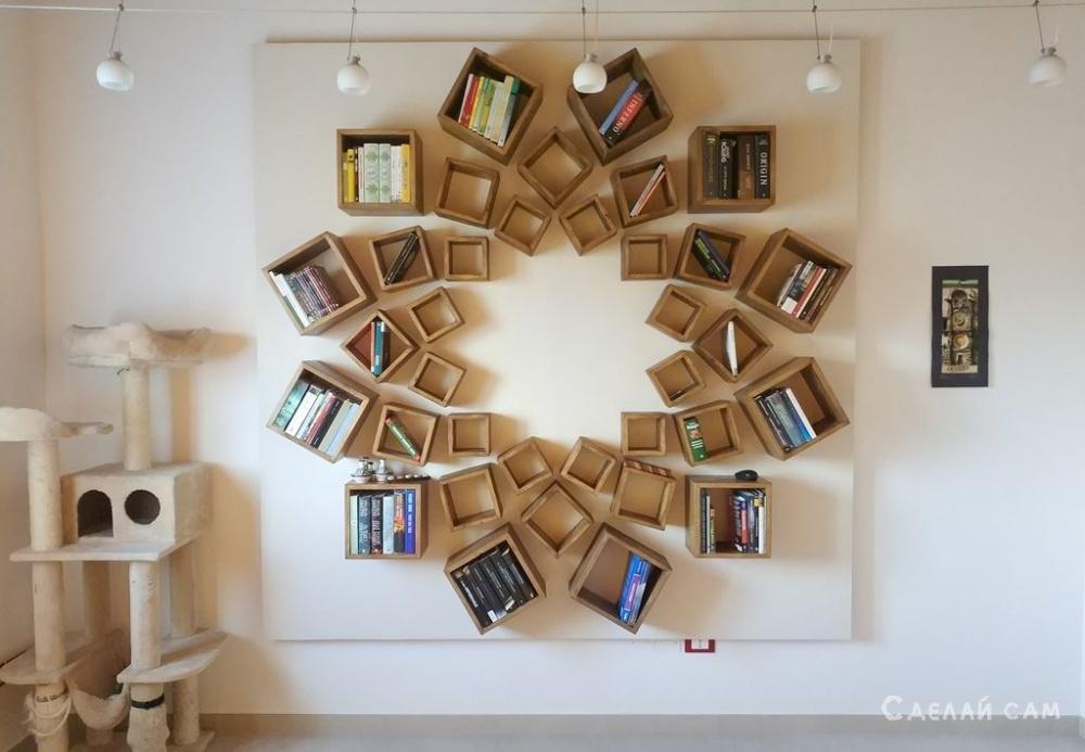 Книжные полки на стену своими руками