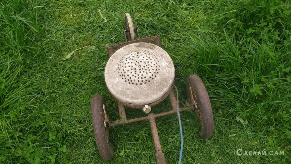 Самодельная газонокосилка из стиральной машины