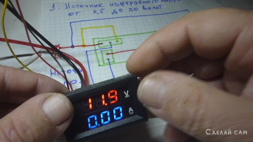 Подключение вольтамперметра DSN-VC288 простым языком