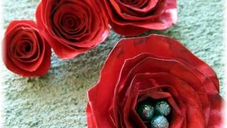 Как сделать розу из бумаги (Фарфоровая роза)