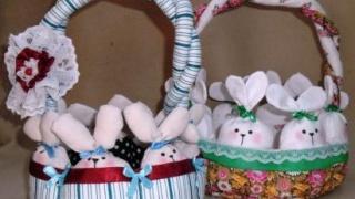 Пасхальные корзинки. Текстильные сувениры.
