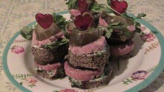 Праздничное оформление бутербродов