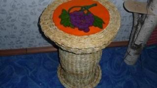 Плетение столика-корзины