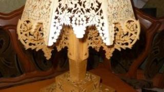 Выпиливание лобзиком - Ажурная лампа