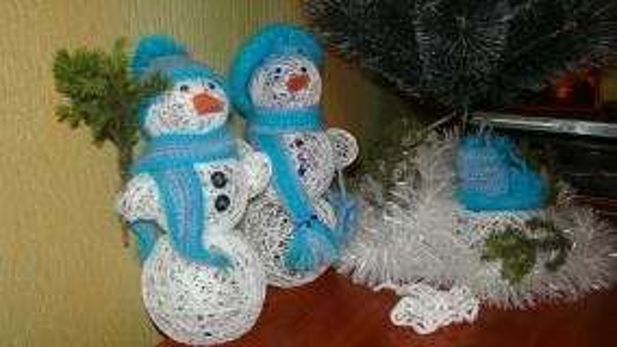 снеговики своими руками на Новый год