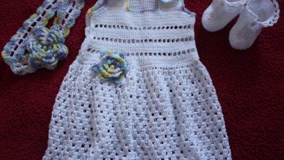 сарафан, носочки и повязка на голову для доченьки
