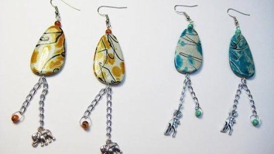 DIY Серёжки из плоских бусин своими руками. Мастер класс. Earrings from flat beads