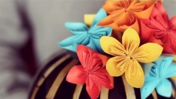 Сделай Сам ВЕСНА : цветы из стикеров для записей / Саша Кирпань