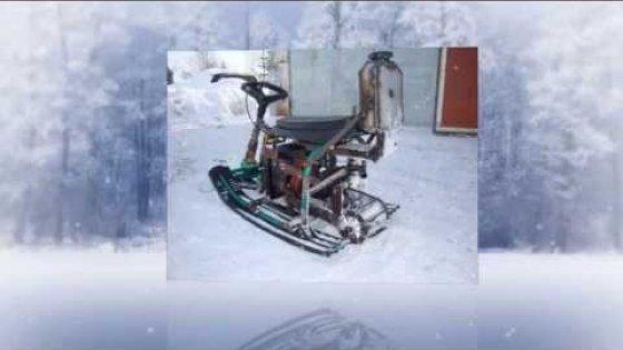 """Снегокат из бензопилы """"УРАЛ"""""""