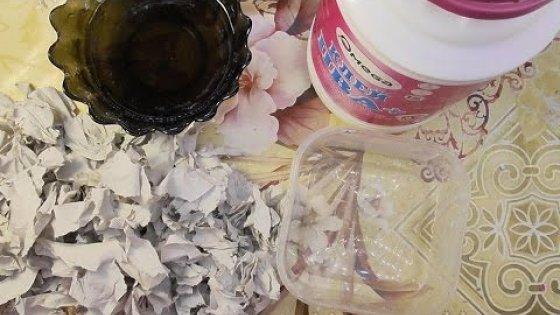 DIY Как сделать массу Папье-маше из ПВА и бумаги. Мастер-класс \  How to make a lot of papier-mache