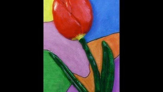 Тюльпан. Солёное тесто
