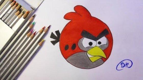 Как нарисовать птичку Angry bird \ How to draw Angry bird \ drawing lesson