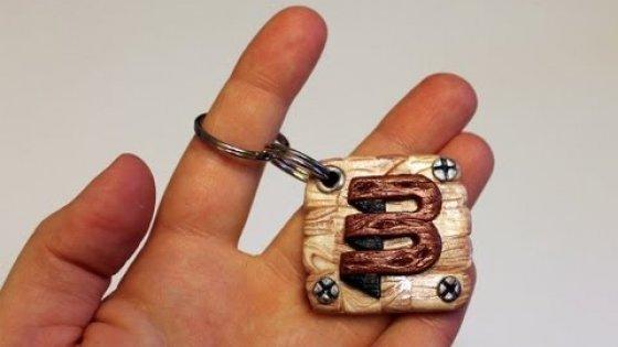 Полимерная глина - БРЕЛОК с лого (Обзор ЗАКАЗА) / Keychain with the logo of polymer clay (Order)