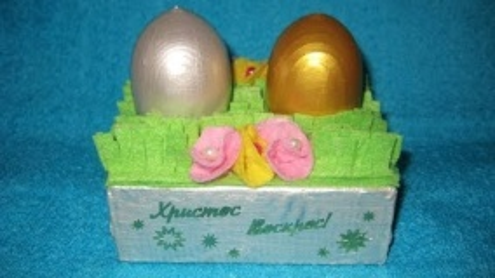 Подставка для пасхальных яиц. Мастер-класс