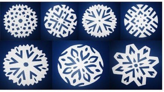 DIY Как быстро и просто вырезать снежинки из бумаги. Мастер класс\ Snowflakes out of paper
