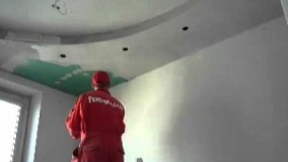Шпатлевание потолка в квартире мастерами компании Рембригада.ру