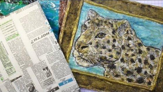 Как сделать основу для картины. Мастер-класс \ How to make a basis for paintings \ Papier-mache