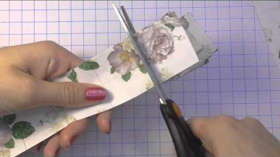 DIY Винтажные цветы своими руками. Скрапбукинг. Цветы своими руками. Мастер класс \ Paper flowers