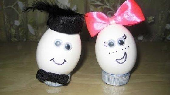 Весёлая парочка. Пасхальные яйца