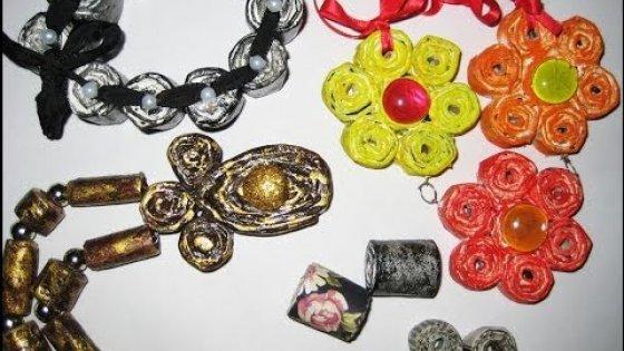 DIY Бусины из газет. Мастер-класс \ Beads of newspapers