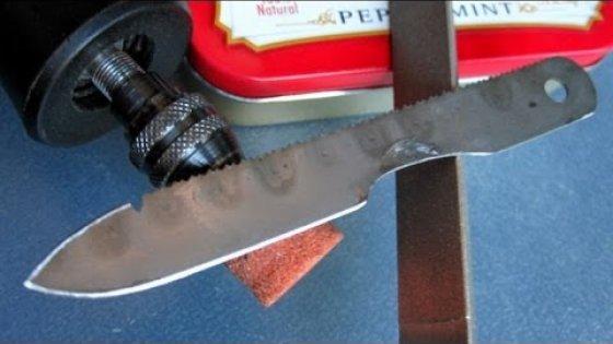 Микро нож выживания своими руками за пол часа