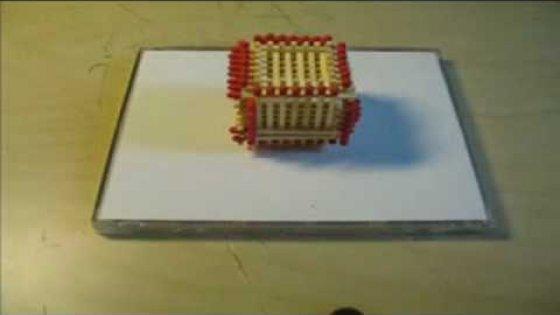 Как изготовить домик из спичек.avi