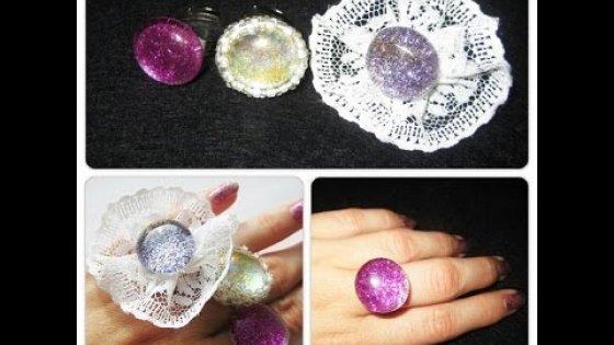 DIY Кольца из блестящих камней. Мастер класс