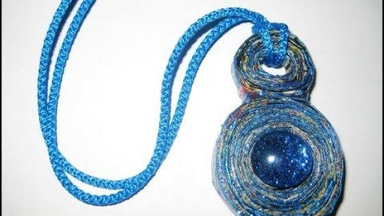 Кулон в технике Папье-маше. Мастер-класс / Jewelry papier-mache / Paper crafts / Handmade