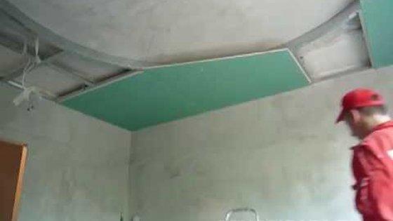 Монтаж гипсокартона на потолок мастерами компании Рембригада.ру