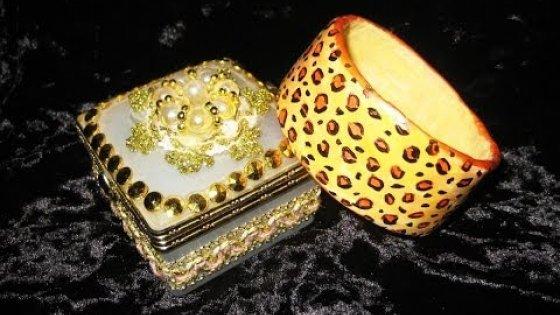Леопардовый браслет. Папье-маше. Мастер-класс