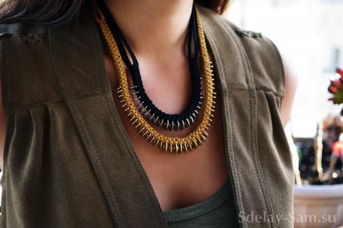 Плетение модного ожерелья своими руками... вспомним поделки из капельниц Сделай Сам www.sdelay.tv