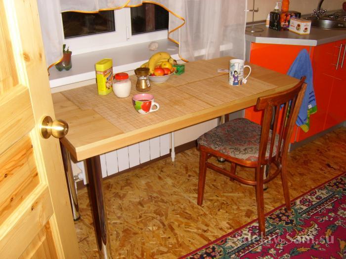 Из чего сделать стол на кухне своими  166