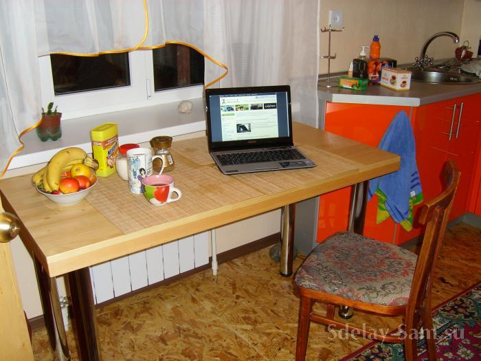 Делаем стол для кухни своими руками
