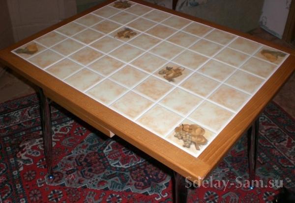 Как сделать стол из плитки