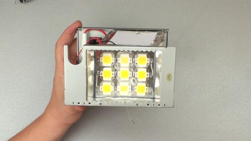 Как собрать светодиодный прожектор своими руками 23
