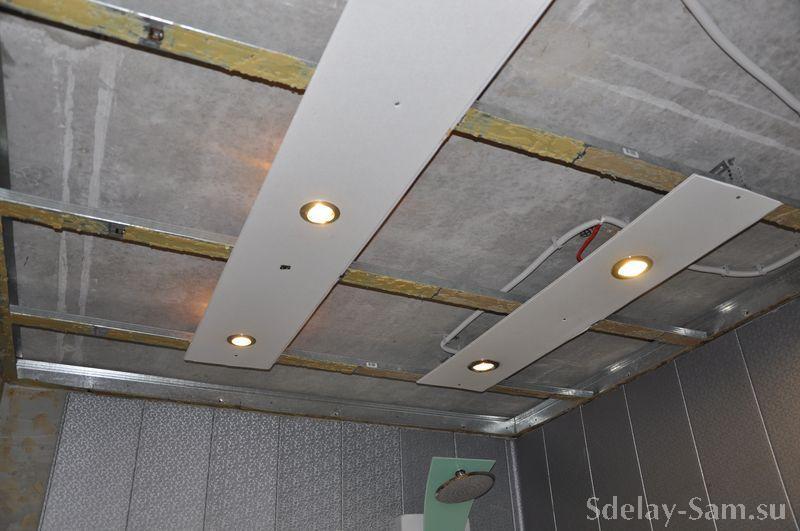 Как сделать обрешетку на потолок под панели 869