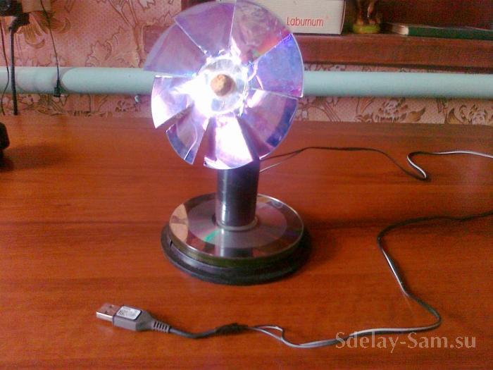 Настольный вентилятор своими руками из кулера