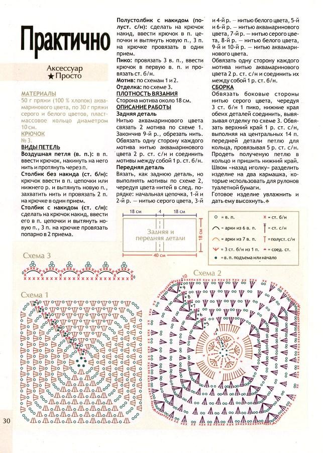 Схема 3: Обычная мочалка (Фото
