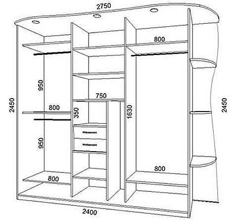 Двери шкафа купе чертежи и схемы