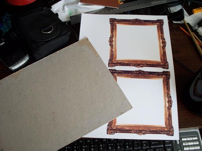 Как сделать рамку из картона на картину  540