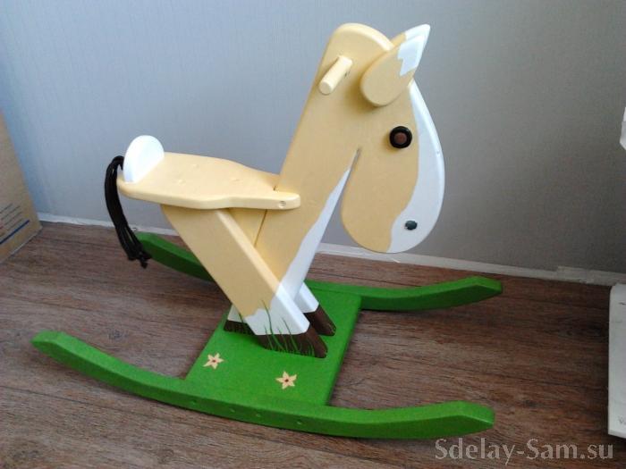 Как сделать лошадку качалку своими руками