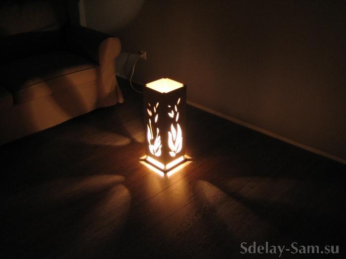 Своими руками напольная лампа