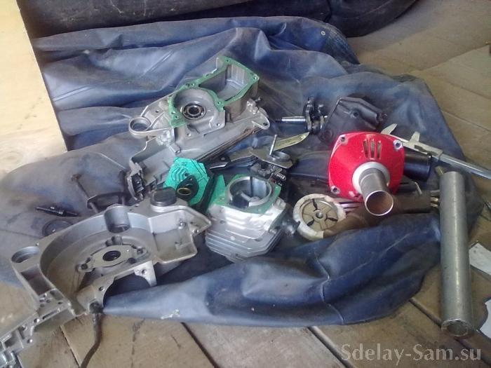 Как сделать лодочному мотор из бензопилы 118