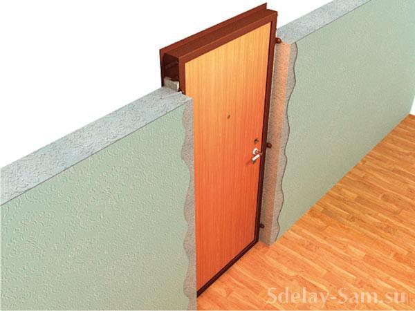 Установка дверной коробки межкомнатной двери видео