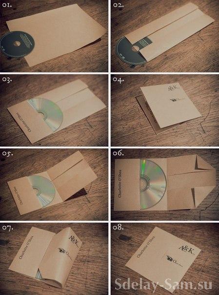 Как сделать из а4 конверт для диска