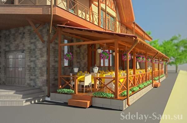 Дизайн проект террасы из дерева