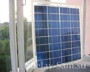Вид спереди солнечной батареи