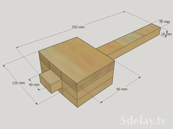 Как сделать киянку из дерева видео